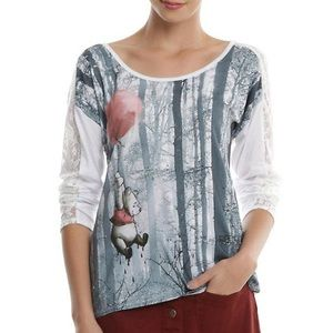 Hot topic Winnie the Pooh lace balloon top XL